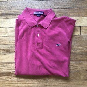 Vineyard Vines Pink Polo M